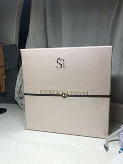 Giorgio Armani si box set perfume edp 50ml shower gel 75ml body lotion