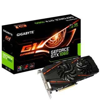 🚚 Gigabyte GeForce GTX 1060 6GB G1 Gaming