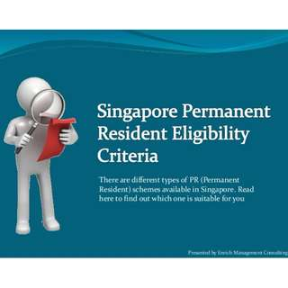 Assist You To Apply Singapore Permanent Residence (SPR)