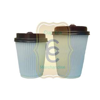hot drink rippled paper cup corrugated cup