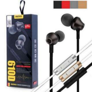(left 1) Remax RM-610D 3.5mm In-Ear Mic Headset for iPhone Xiaomi Android Phones