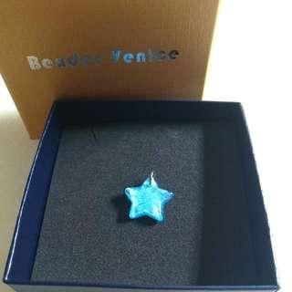 [New] Beader Venice Coloured Glaze Blue Star Pendant