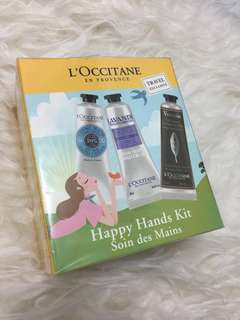 Loccitane Gift Set Hand Cream Happy Hands Kit