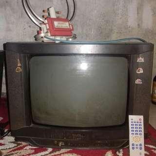 TV Goldstar + Remot + Antena Dalam