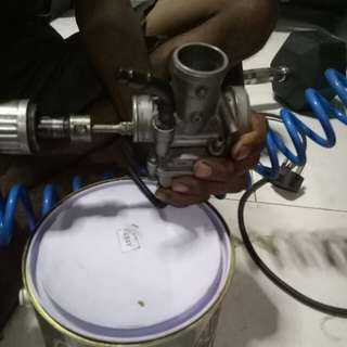 Potting and setting of carburetor