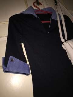 Black collar top