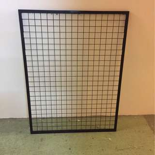 Black wire mesh with frame