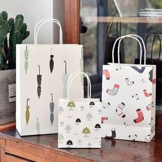 Fancy Carry Paper Bags x 10 pcs