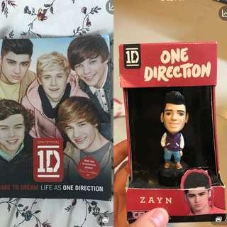 One Direction Book + Zayn Malik Figure
