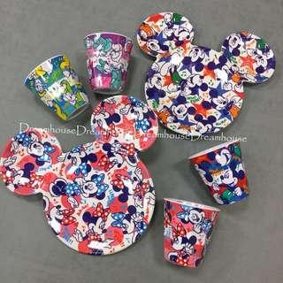 東京迪士尼 米奇 米妮 唐老鴨 黛西 兒童 餐盤 盤子 點心盤 水杯 杯子 餐具