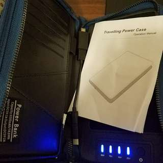 Power bank plus documents holder