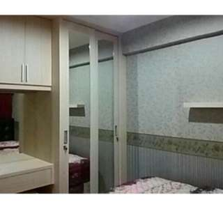 Apartemen harian yang indah dengan harga minim 1BR full furnish