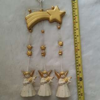 Ceramic Wind Chime (3 Angels)
