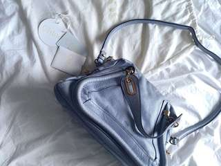 Chloe Paraty Handbag (blue-grey)