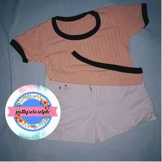 Ribbed Top in Pastel Pink
