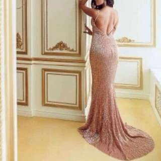gold long gown for rent