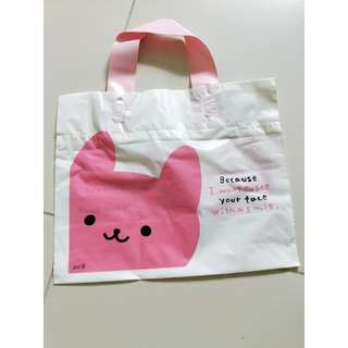 Rabbit design with handler plastics bag