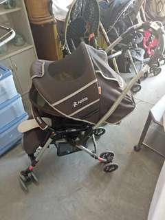 Aprica Reversible Stroller Brown Negotiable