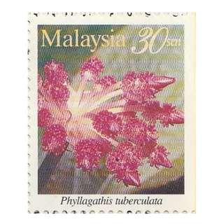 1997 Highland Flowers of Malaysia Phyllagathis Tuberculata 30s Mint MNH SG #SB7 (647) (outer right margin imperf) (B)