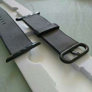 Apple watch - black nylon band, 38mm and 42mm
