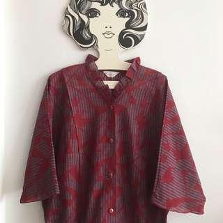 *Rare 80s Vintage Kimono Sleeve Blouse*