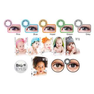 Softlens n8 grey big eyes+cairannya 120mil preloved