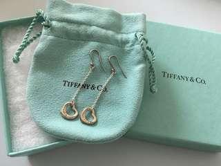 Tiffany 100%全新未用 925純銀 心心耳環 經典款式