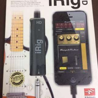 IK Multimedia iRig digital guitar interface for iPhone ipad mac