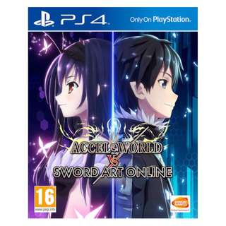 (Brand New Sealed) PS4 Game Accel World VS Sword Art Online.