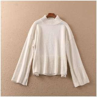 🚚 小高領寬袖針織毛衣