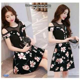 Dress bunga pendek