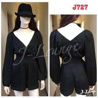 J727全新H&M深V性感連身寬管短褲褲裙洋裝都會時尚春吶休閒海邊比基尼渡假overall J-Lounge