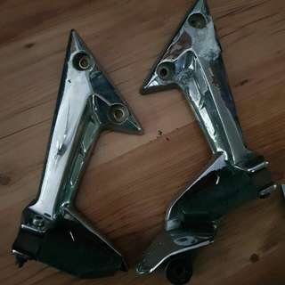 Spark pillion chrome bracket