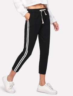 side striped long pants