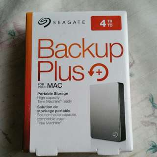 Seagate Backup Plus 4TB For Mac New Seagate 4TB Portable HDD Hard Disk Drive backup plus 4.0 TB external 2.5""