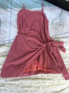 Pink wrap dress BNWT