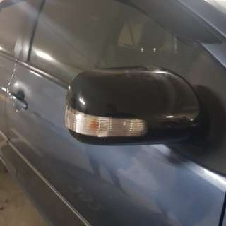 Gloss Black Side Mirror Wrap