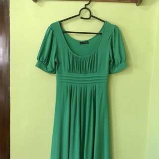 Green Reborn Jersey Dress