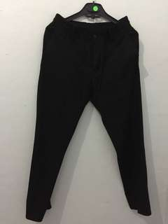 Zara crops pants with rubber