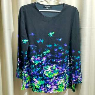 Abstract Black Blouse