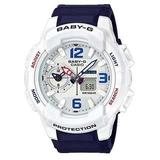 BGA-230SC-7BDR BGA-230SC-7B BGA-230SC Brand New Casio Baby-G Quartz 100m World Time 100% Authentic Analog Alarm Female Sports Watch w/ Warranty