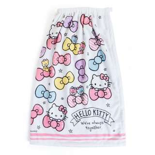 Japan Sanrio Hello Kitty Water Absorption Quick Dry Wrap Towel (ribbon) 80 cm