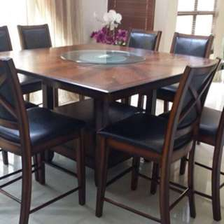 A set of dining table with 8 chairs for sale