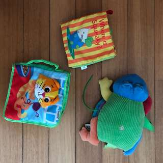 Baby infant soft fabric books Lamaze Mothercare