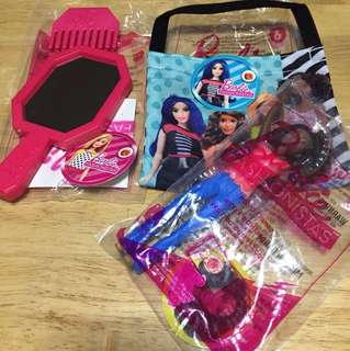 Barbie items + Wendy's create your adventure story board