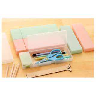 tempat pensil kotak simple elegan - HHM224 - Pink