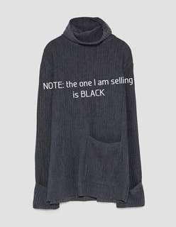 ZARA Textured Weave Sweater