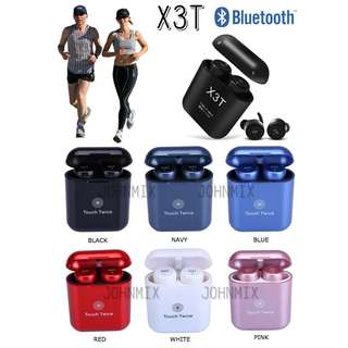 X3T 無線雙耳藍牙耳機連充電盒套裝 輕觸式設計 (X2T 升級版) Wireless earphones X3T Mini Wireless Bluetooth V4.2 Twins Stereo In-Ear Headset Earphone Earbuds with Charging Box With Mic Support Hands-free Calling iPhone Android