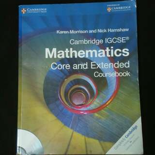 Cambridge IGCSE Mathematics Core and Extended Coursebook by Morrison and Hamshaw CAMBRIDGE