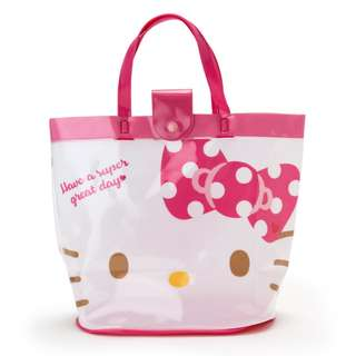 Japan Sanrio Hello Kitty Vinyl Bucket Bag (face)